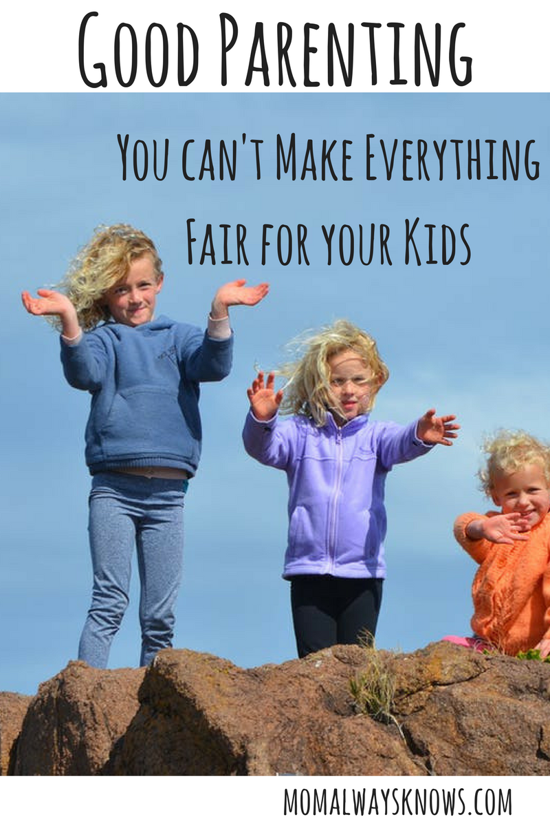 Good Parenting: You Can't Make Everything Fair For Your Kids