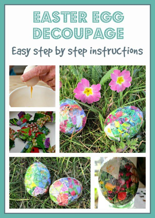 EASTER EGG DECOUPAGE