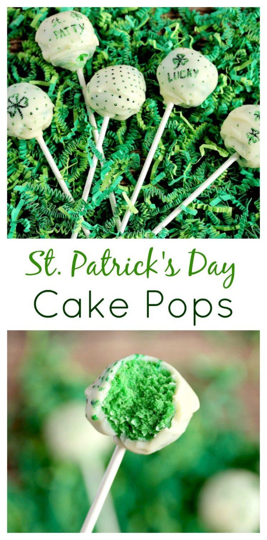ST. PATRICK'S DAY GREEN CAKE POPS (GLUTEN FREE FRIENDLY)