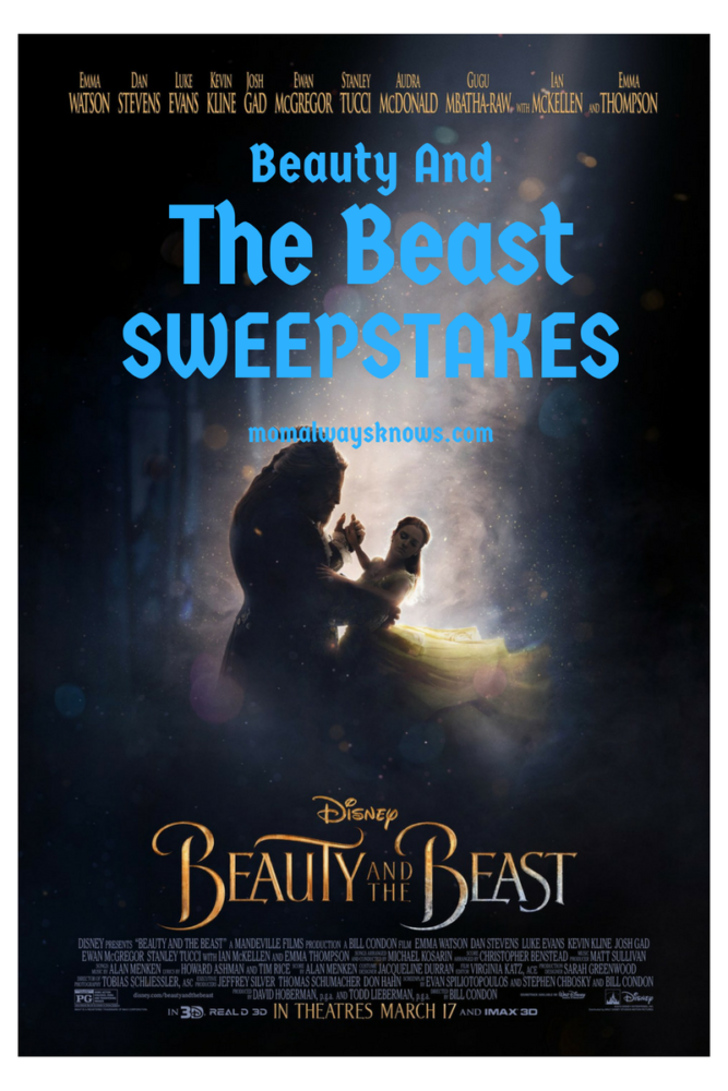 DISNEY BEAUTY AND THE BEAST SWEEPSTAKES
