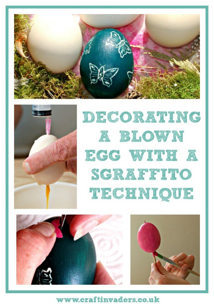 HOW TO MAKE SGRAFFITO EGGS