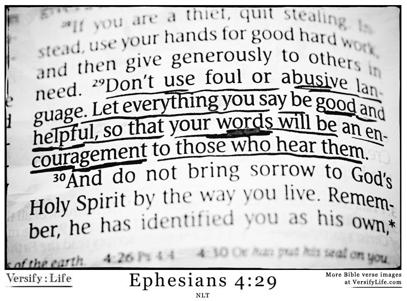 Ephesians 4:29 verse
