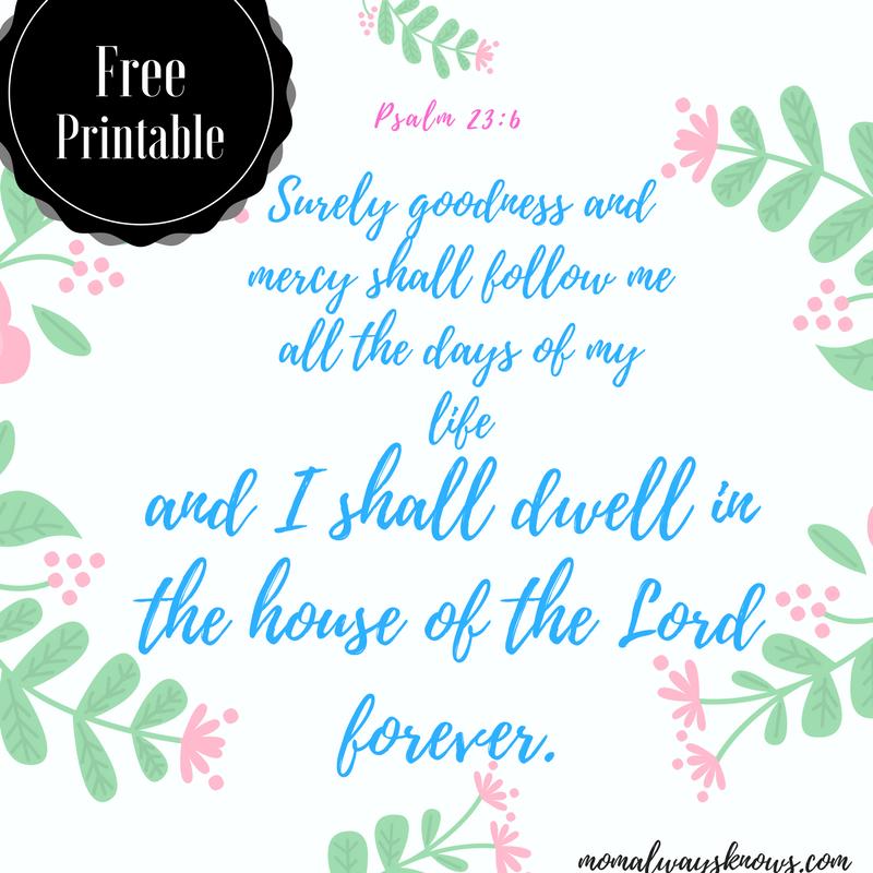 Psalm 13:6- Free Printable-