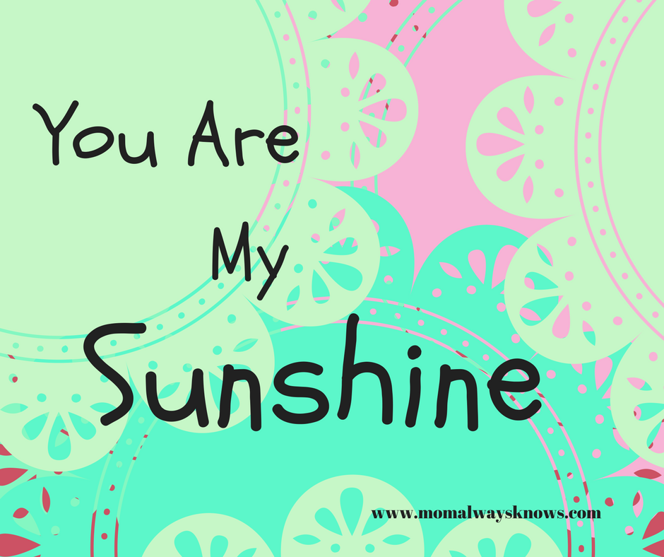 photograph relating to You Are My Sunshine Printable called Oneself are my Solar inside of Aqua Printable