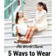 ways to wear white dress