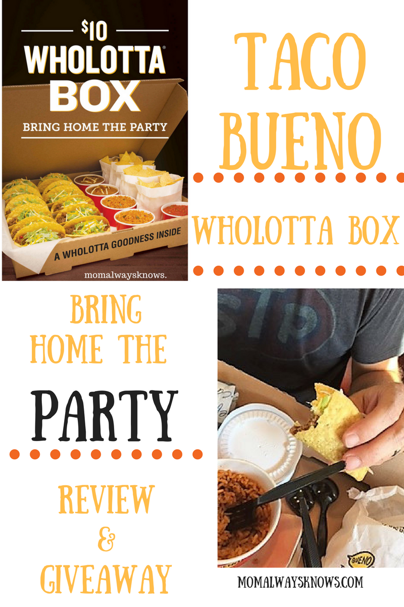 Taco Bueno Wholotta Box Review & Giveaway