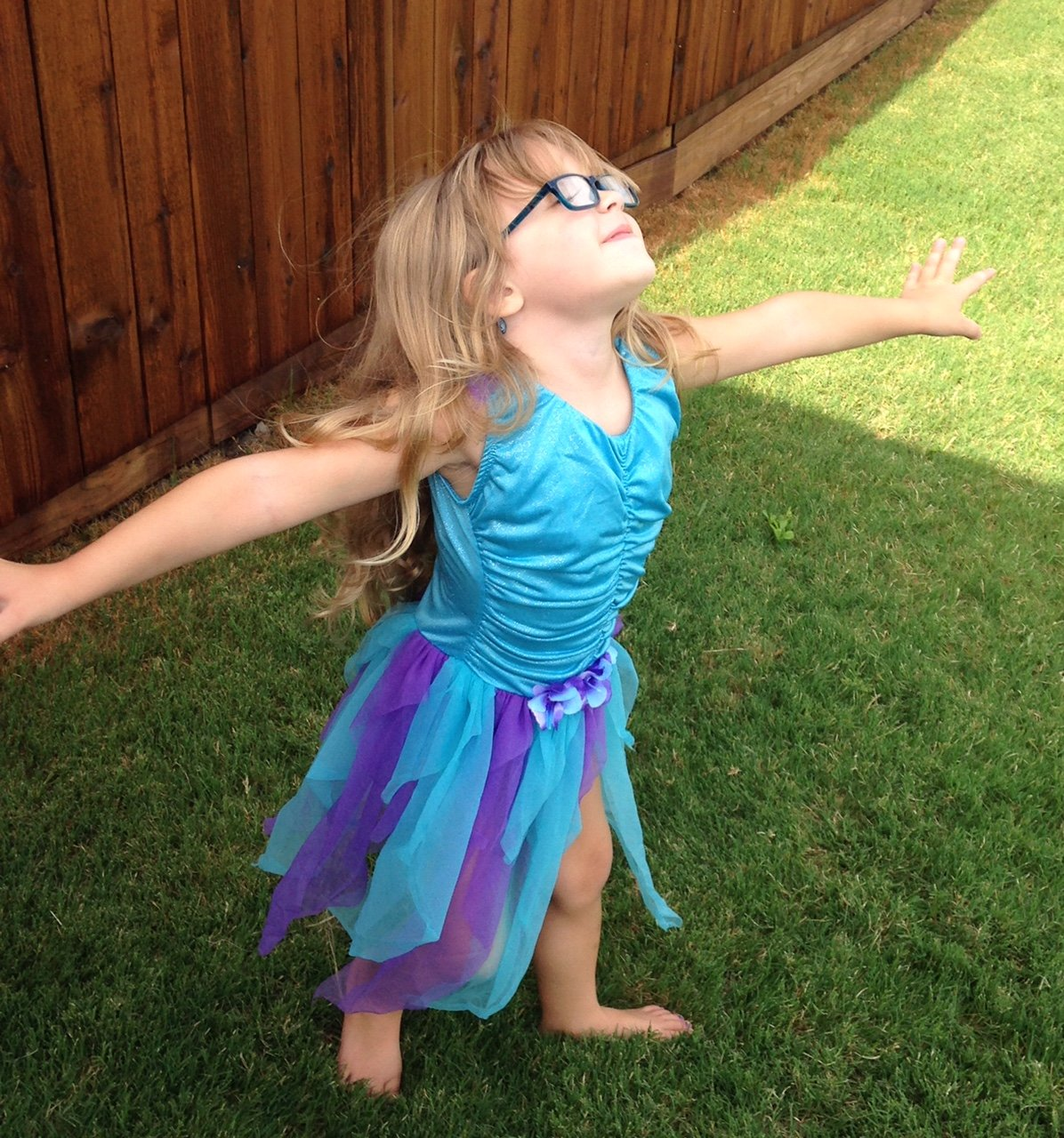 purple and blue fairy dress