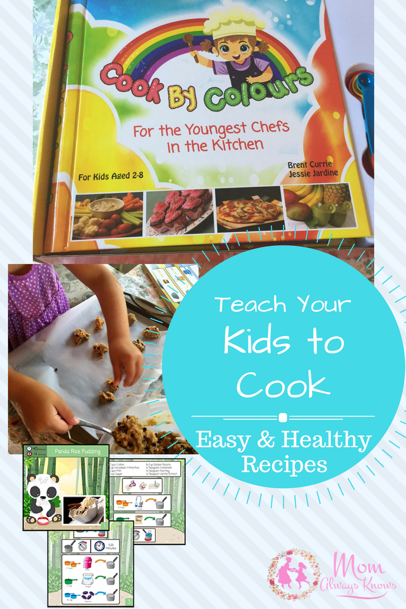 Teach your Kids to Cook Easy and Healthy Recipes with Cook By Colours Cookbook