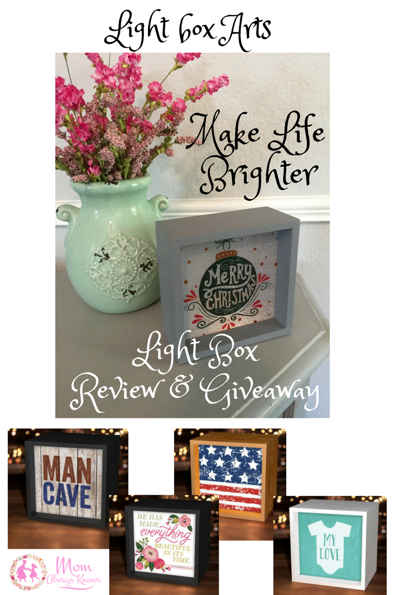 Make Life Brighter Review & Giveaway: Light box Arts Light box – Merry Christmas Ornament