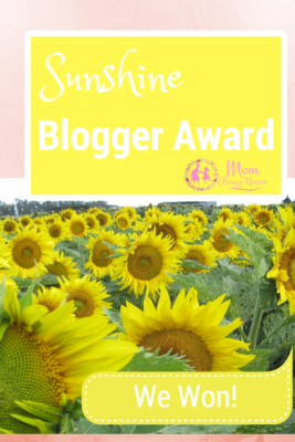 Mom Always Knows Wins the Sunshine Blogger Award