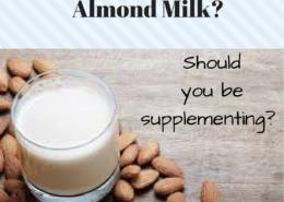should toddler drink almond milk