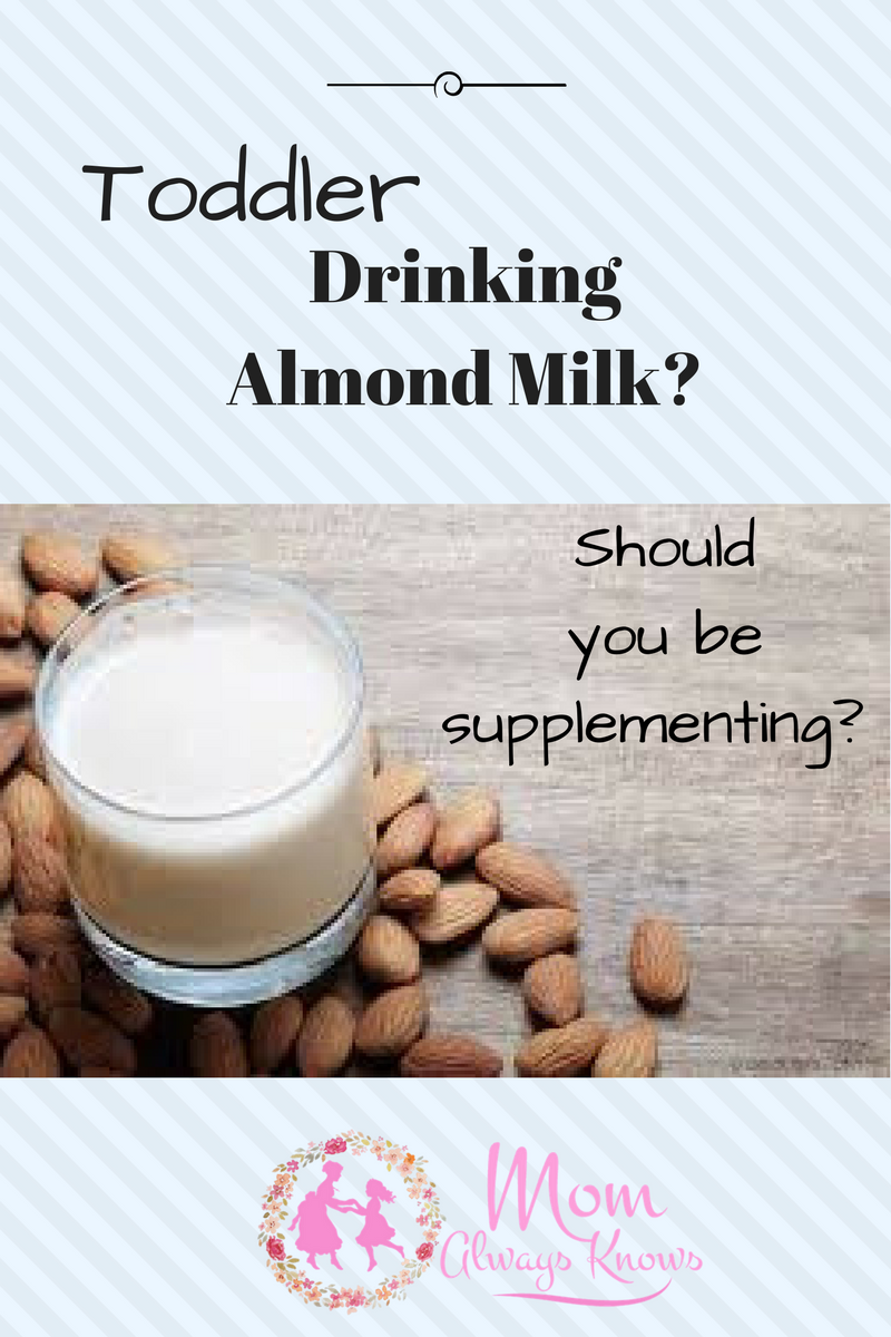 should toddler drink almond milk