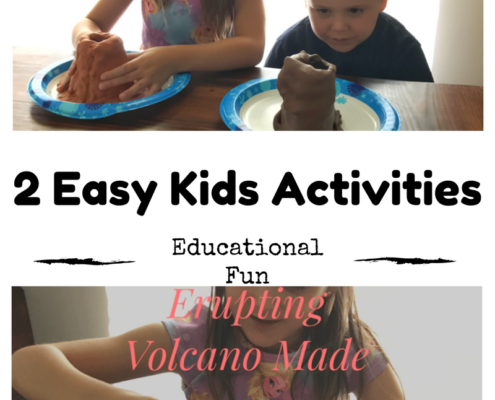 volcano kids craft easy