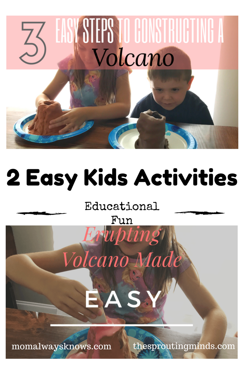 2 Easy & Fun Educational Kids Activities- Constructing and Erupting a Volcano