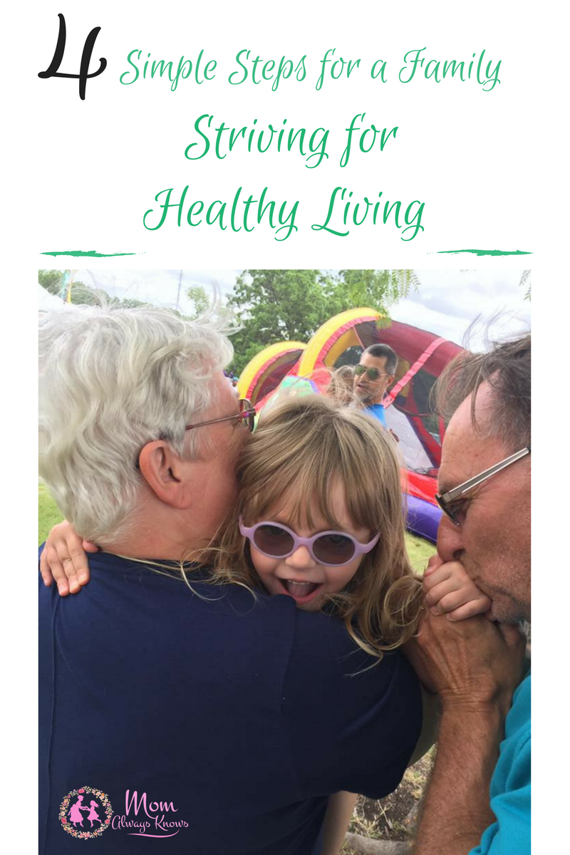 4 Simple Steps for a Family Striving for Healthy Living