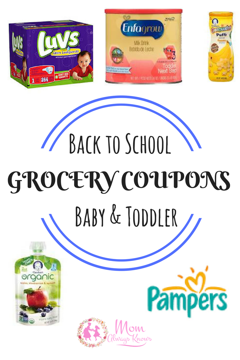 Free Baby & Toddler GROCERY COUPONS- Diapers, Formula, Puffs