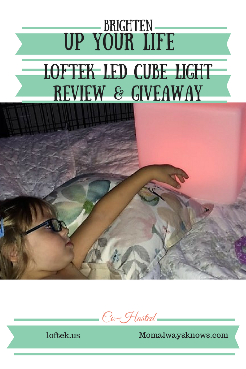Brighten up Your Life-Loftek LED Cube Light Review & Giveaway