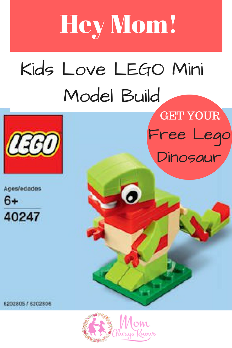 Hey Mom-Kids Love LEGO Mini Model Build – Free LEGO Dinosaur-