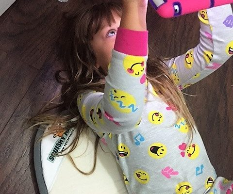 playing on squishy mat