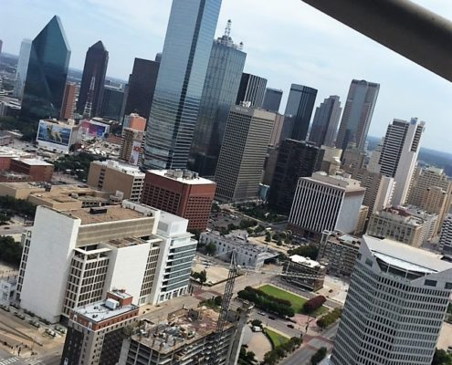 reunion tower view