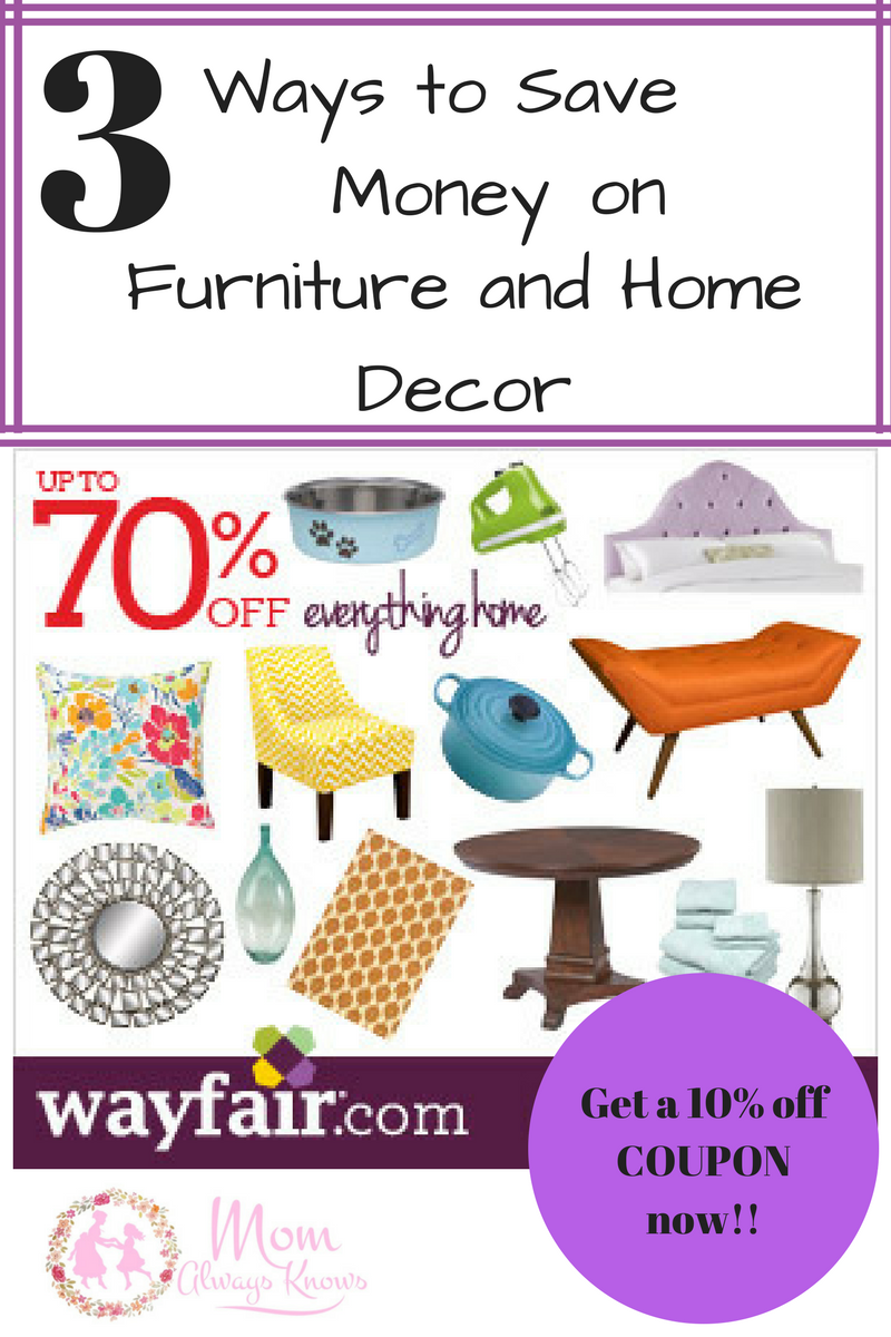 3 Ways to Save Money on Furniture and Home Decor with Wayfair