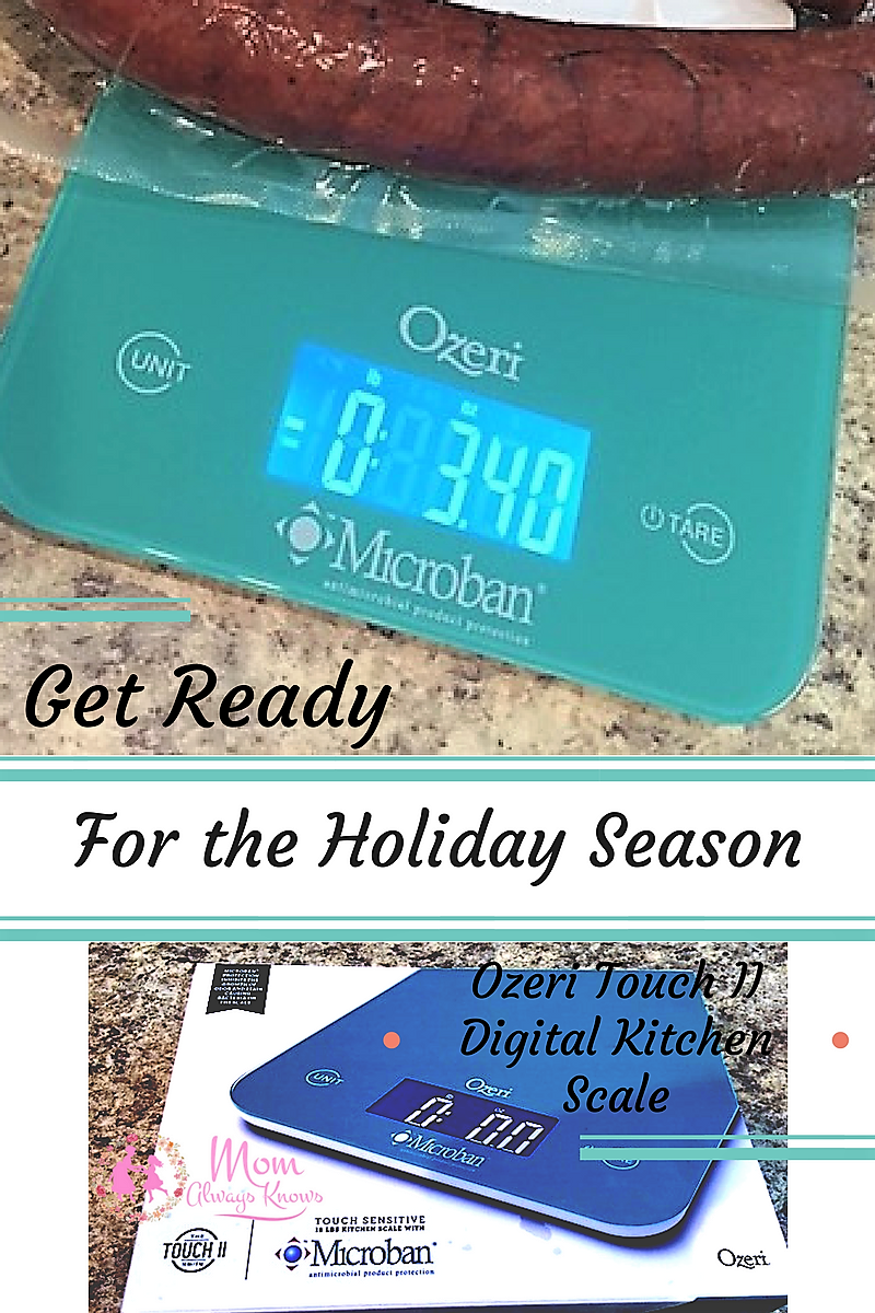 Get Ready for the Holiday Season with the Ozeri Touch II Digital Kitchen Scale