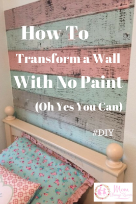transform a wall with no paint