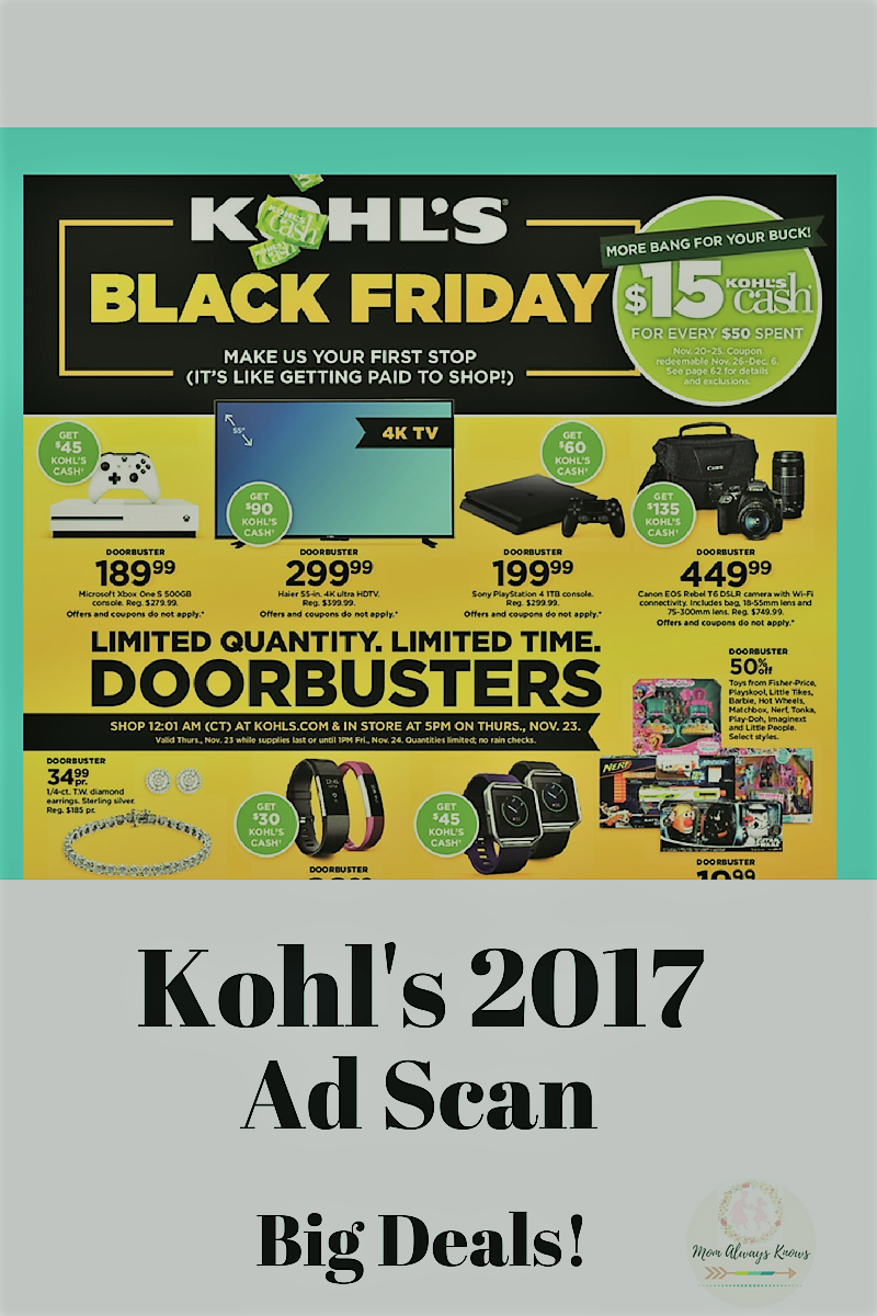 Kohl's 2017 Black Friday Ad Scan Has Been Leaked and is here!