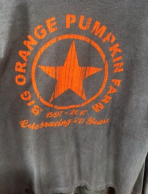Big Orange pumpkin t-shirt