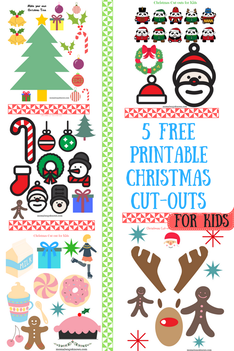 Christmas Craft Ideas for Kids- 5 Free Printable Christmas Cut-outs