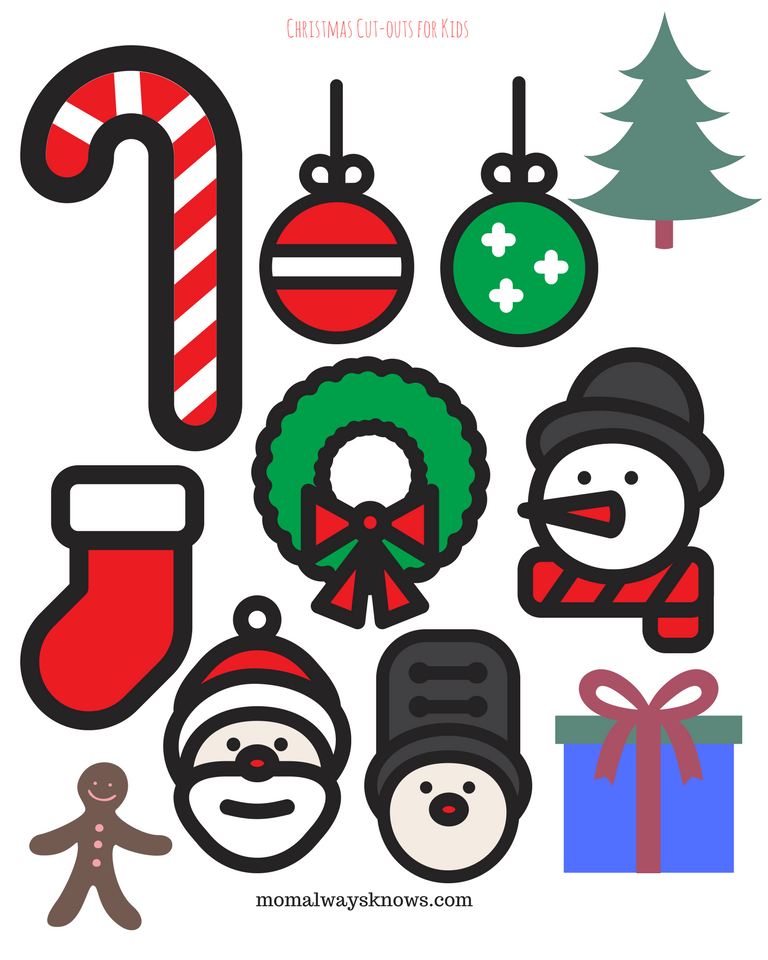 picture regarding Free Printable Christmas Cutouts named Xmas Craft Tips for Young children- 5 Totally free Printable Xmas
