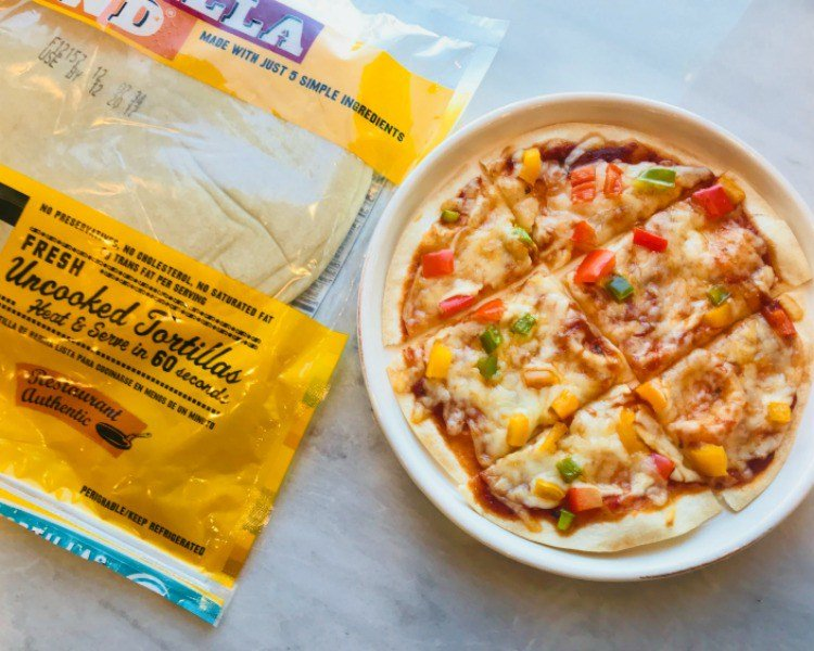easy tortilla pizza recipes