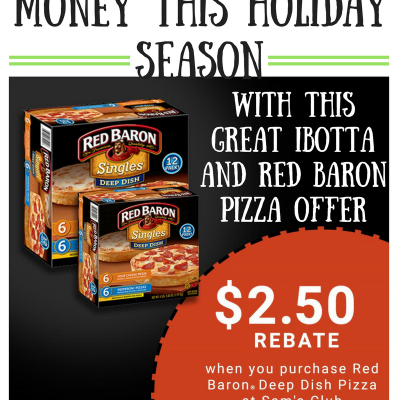 Save Time and Money This Holiday Season With This Great Ibotta and Red Baron Pizza Offer