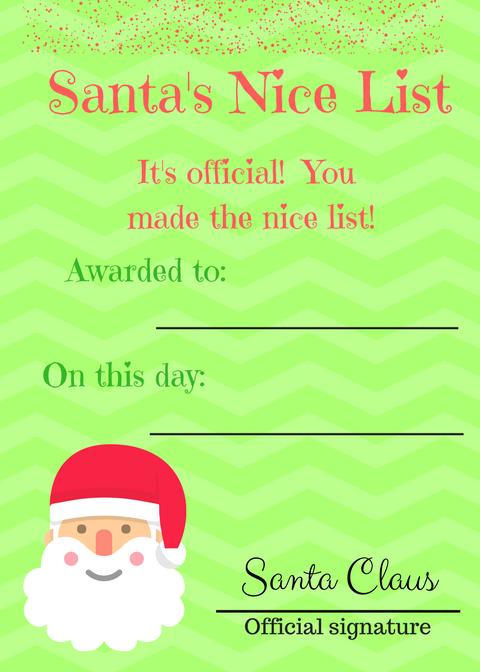 nice list printable
