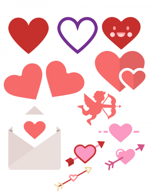 kids valentines day cut-outs
