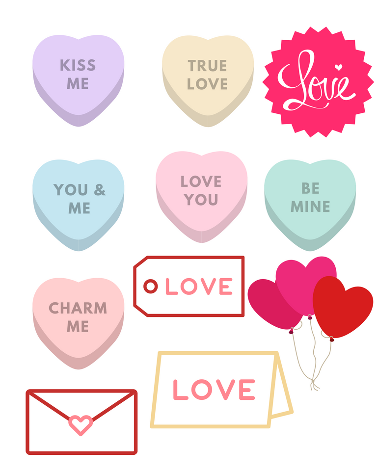 photograph about Printable Conversation Hearts known as Deliver your personal Valentines Working day Playing cards this calendar year!