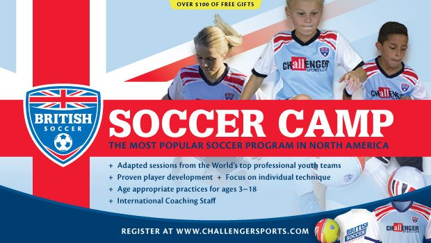 coupon British soccer camp