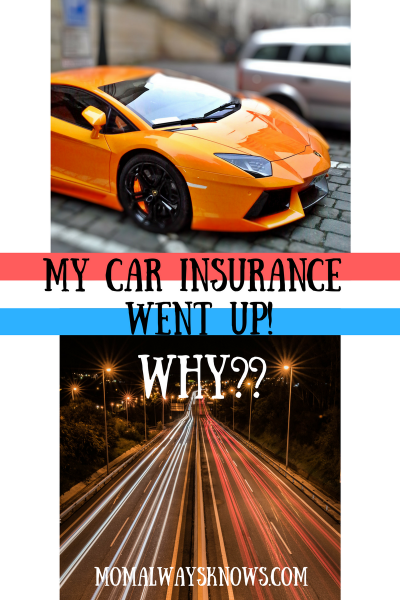 My Car Insurance Just Went Up- Why?