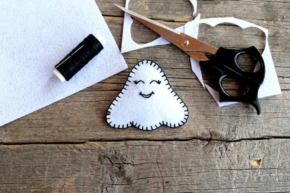 sew felt ghost
