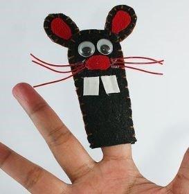 sew felt hand puppets