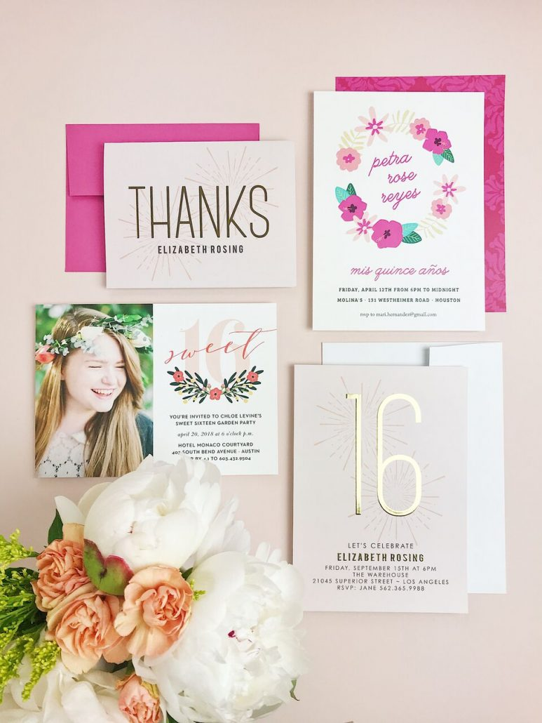 wedding invites and matching thank you cards