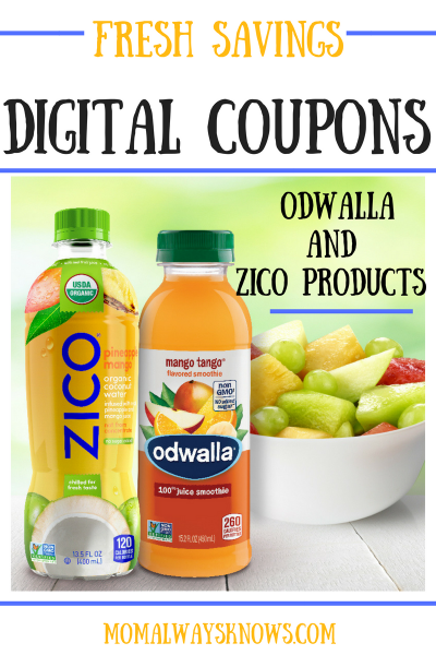 Fresh Savings Digital Coupons For Odwalla and ZICO Products