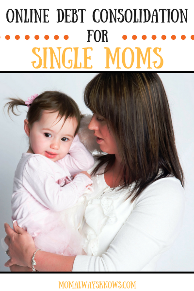 Online Debt Consolidation for Single Moms