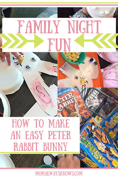 Family Night Fun- How to Make an Easy Peter Rabbit Bunny