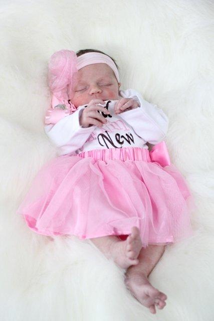 newborn girl pink tutu