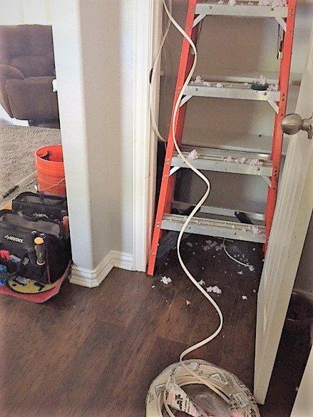 closet light install