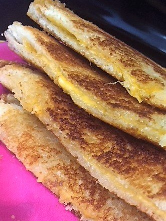 grilled cheese with butter