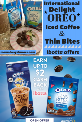 International Delight OREO Iced Coffee and Thins Bites Ibotta offers at Walmart!