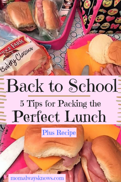 Back To School – 5 Tips for Packing The Perfect Lunch (Plus Bonus Recipe)