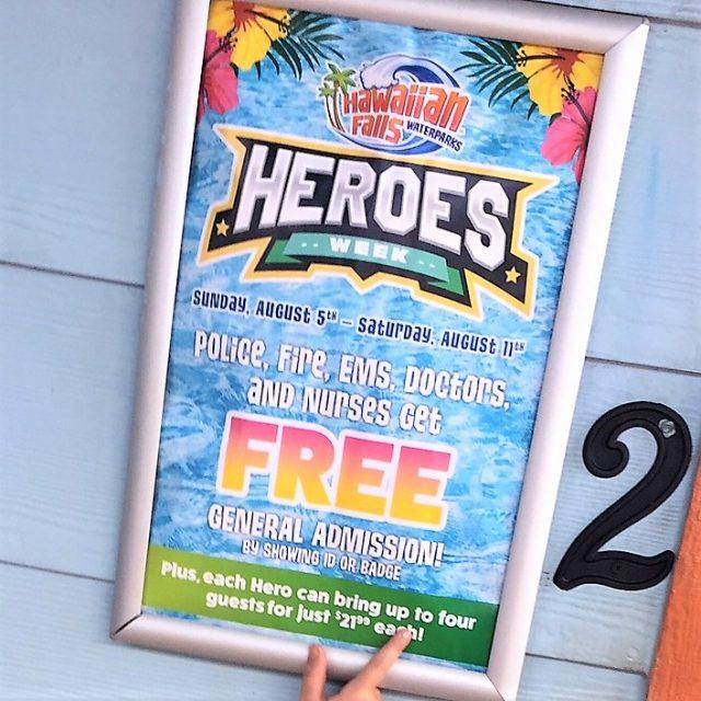 heroes week Hawaiian Falls
